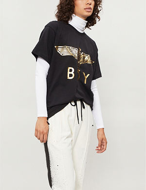 BOY LONDON Metallic eagle logo t-shirt