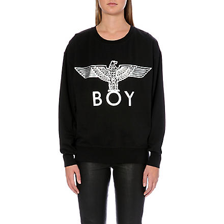 BOY LONDON Metallic eagle logo sweatshirt (Black