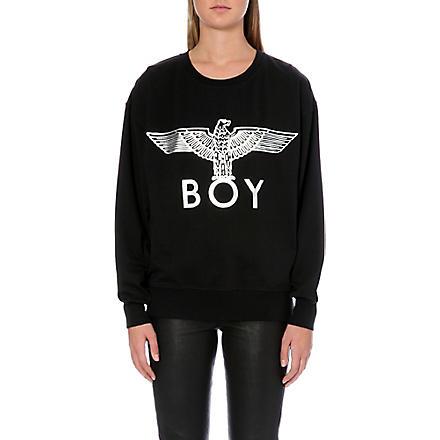 BOY LONDON Metallic eagle logo sweatshirt (Black