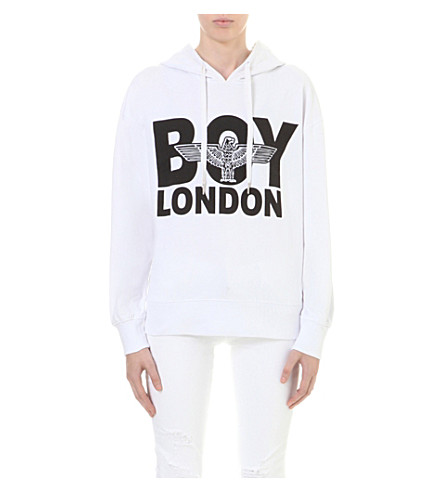 BOY LONDON Eagle cotton-jersey hoody (White
