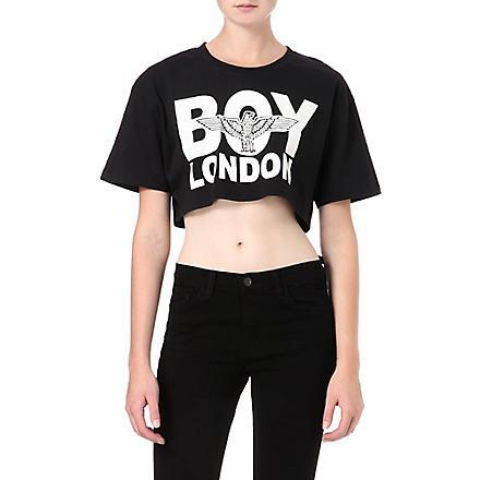 BOY LONDON Cropped t-shirt (Black/white