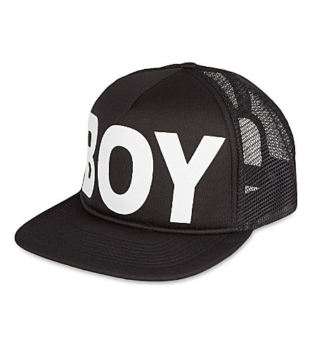 BOY LONDON Mesh snapback cap (Black/white