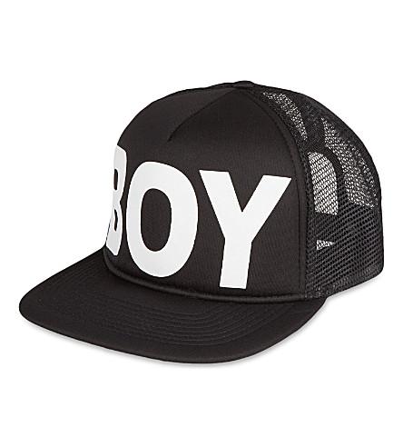 BOY LONDON Mesh snapback cap (Black/white