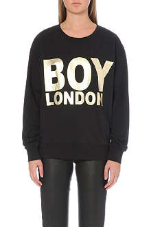 BOY LONDON Metallic logo sweatshirt