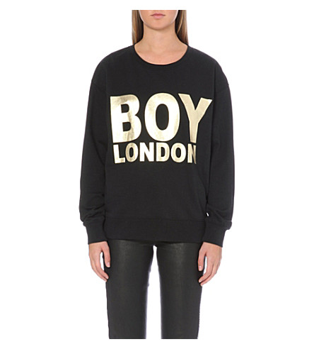 BOY LONDON Metallic logo sweatshirt (Black