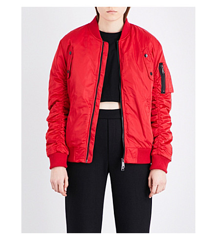 BOY LONDON Shell bomber jacket (Red