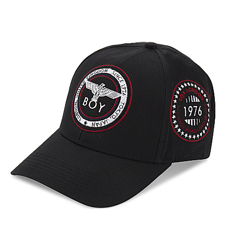 BOY LONDON Patch snapback cap (Black