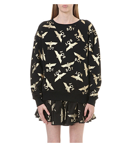 BOY LONDON Gold-toned motif sweatshirt (Black/gold