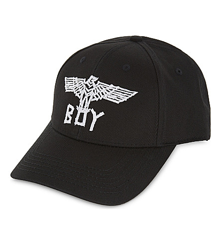 BOY LONDON Tape Eagle cotton snapback cap (Black+white