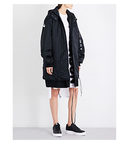 BOY LONDON Eagle-tape shell jacket (Black+white
