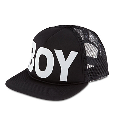 BOY LONDON Snapback trucker cap (Black/white