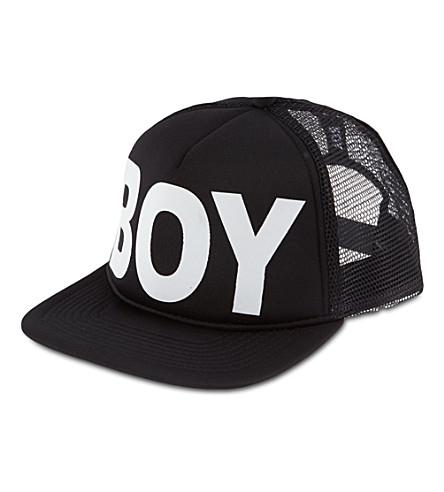 BOY LONDON Snapback trucker cap (Black/white
