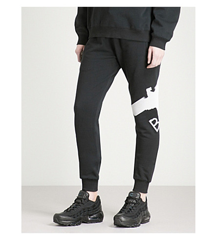 BOY LONDON Eagle-logo cotton-jersey jogging bottoms (Black/white