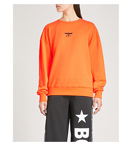BOY LONDON Brand-logo cotton-jersey sweatshirt (Orange