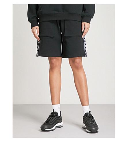 BOY LONDON Eagle cotton-jersey jogging shorts (Black