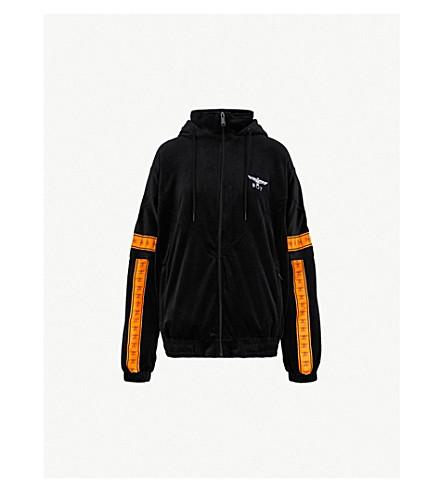 BOY LONDON Branded-tape velvet jacket (Orange