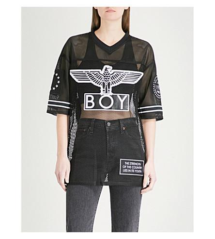 BOY LONDON Eagle mesh T-shirt (Black/white