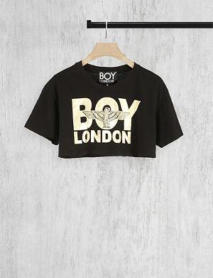 BOY LONDON Cropped logo t-shirt