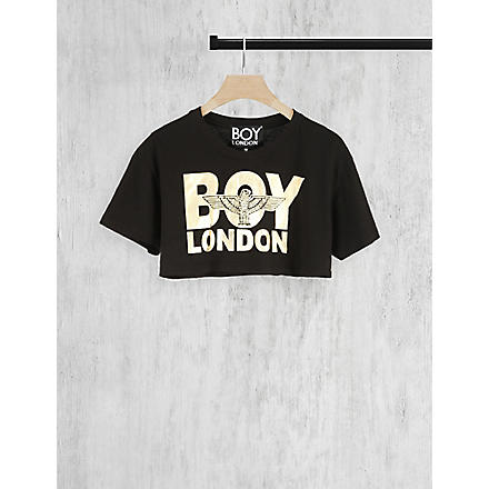 BOY LONDON Cropped t-shirt (Black