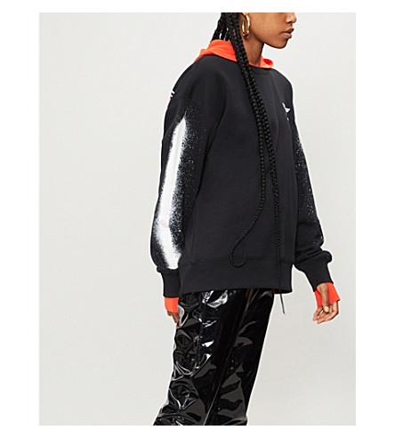 BOY LONDON Fake cotton-jersey sweatshirt (Black