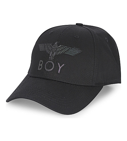 BOY LONDON Flash logo cotton snapback cap (Black