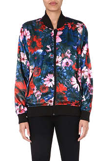CRIMINAL DAMAGE Frisco floral-print satin bomber jacket
