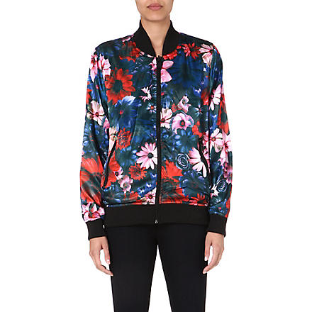 CRIMINAL DAMAGE Frisco floral-print satin bomber jacket (Multi