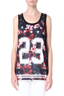CRIMINAL DAMAGE Printed jersey vest