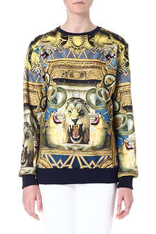 CRIMINAL DAMAGE Cotton-blend print sweater