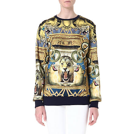 CRIMINAL DAMAGE Cotton-blend print sweater (Multi