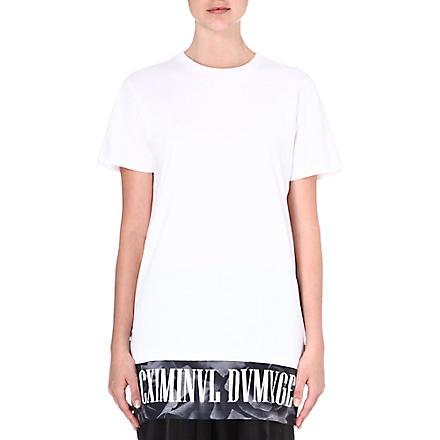 CRIMINAL DAMAGE Nova printed t-shirt (White