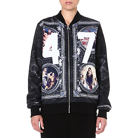 CRIMINAL DAMAGE Paintings 47 bomber jacket (Multi