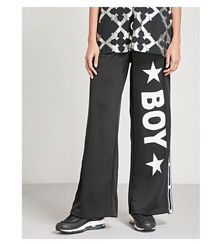 BOY LONDON Popper sports-jersey jogging bottoms (Black/white