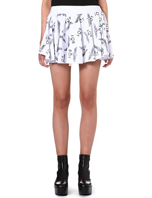 BOY LONDON Logo-print mini skirt