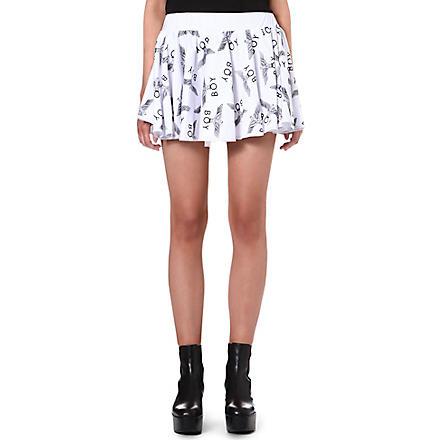 BOY LONDON Logo-print mini skirt (White