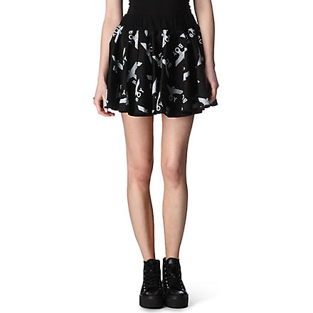 BOY LONDON Printed ra-ra skirt (Black