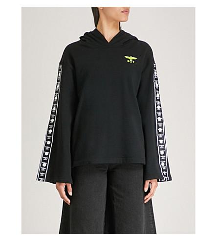 BOY LONDON侧条纹棉衫 hoody (黑/石灰