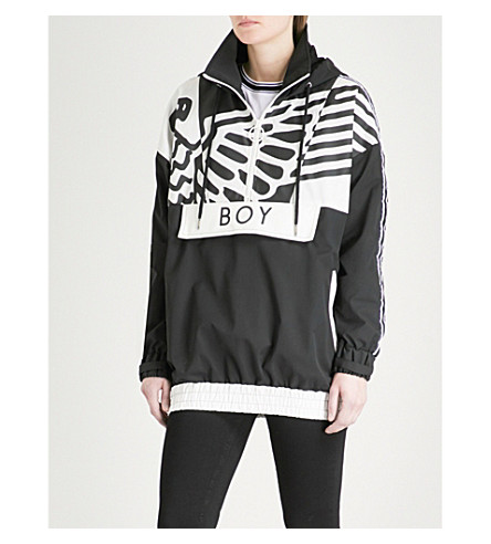 BOY LONDON Wingspan shell jacket (Black/white