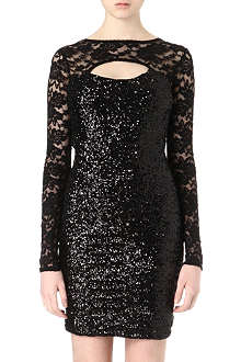 NADINE MERABI Chloe sequinned mini dress