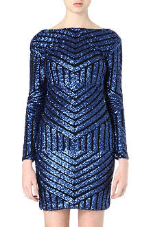 NADINE MERABI Lucie sequinned mini dress