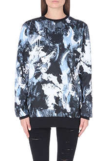 CRIMINAL DAMAGE Abstar abstract print sweater