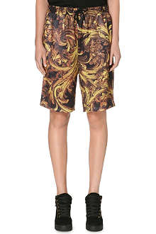 CRIMINAL DAMAGE Baroque perforated shorts