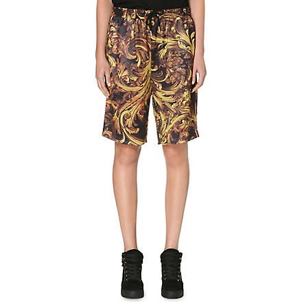 CRIMINAL DAMAGE Baroque perforated shorts (Multi