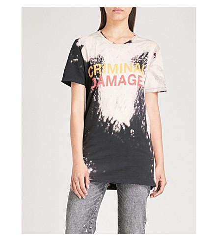 CRIMINAL DAMAGE漂白棉-球衣 t恤衫 (多