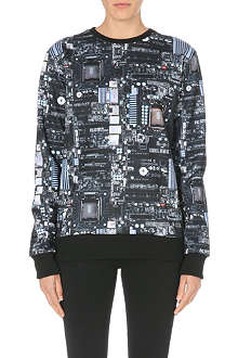 CRIMINAL DAMAGE Circuit print sweater