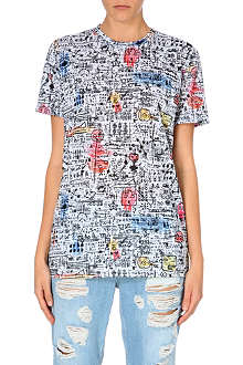 CRIMINAL DAMAGE Doodle print t-shirt
