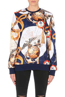CRIMINAL DAMAGE Pirate nautical map print sweater