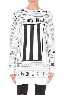 CRIMINAL DAMAGE Oversized zodiac print sweater