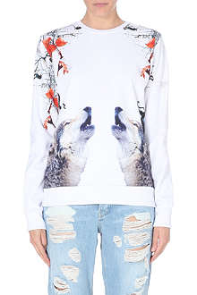 CRIMINAL DAMAGE Howling wolf sweater