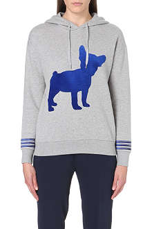 ETRE CECILE Big Dog flocked cotton-jersey hoody
